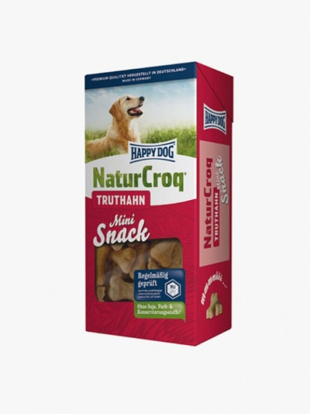 Happy Dog Natur Croq Snack Mini Kalkoen